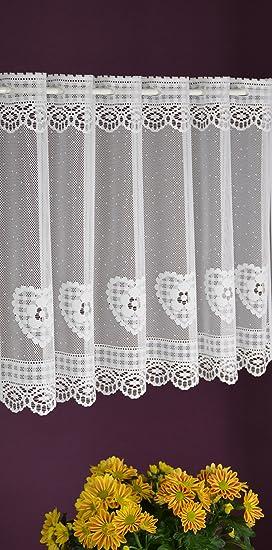 Albani Rideau brise-bise en forme de cœur à lamelles, rideau de ...
