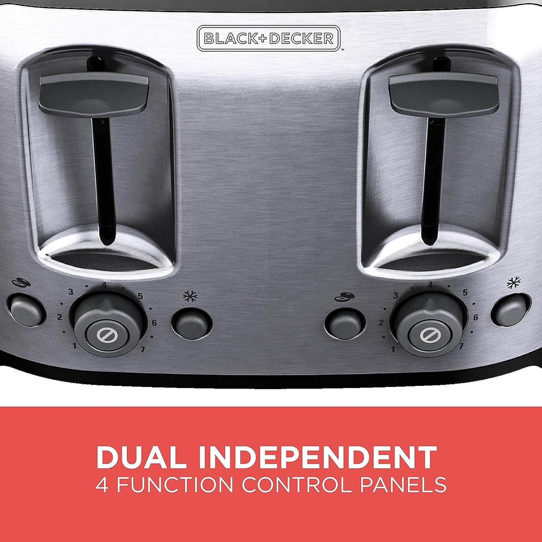amazon com black decker 4 slice toaster classic oval black with