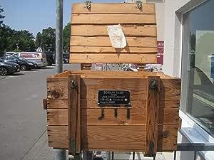 Caja de Madera cajón-estantería baúl Shabby Chic Vintage Mesa ...