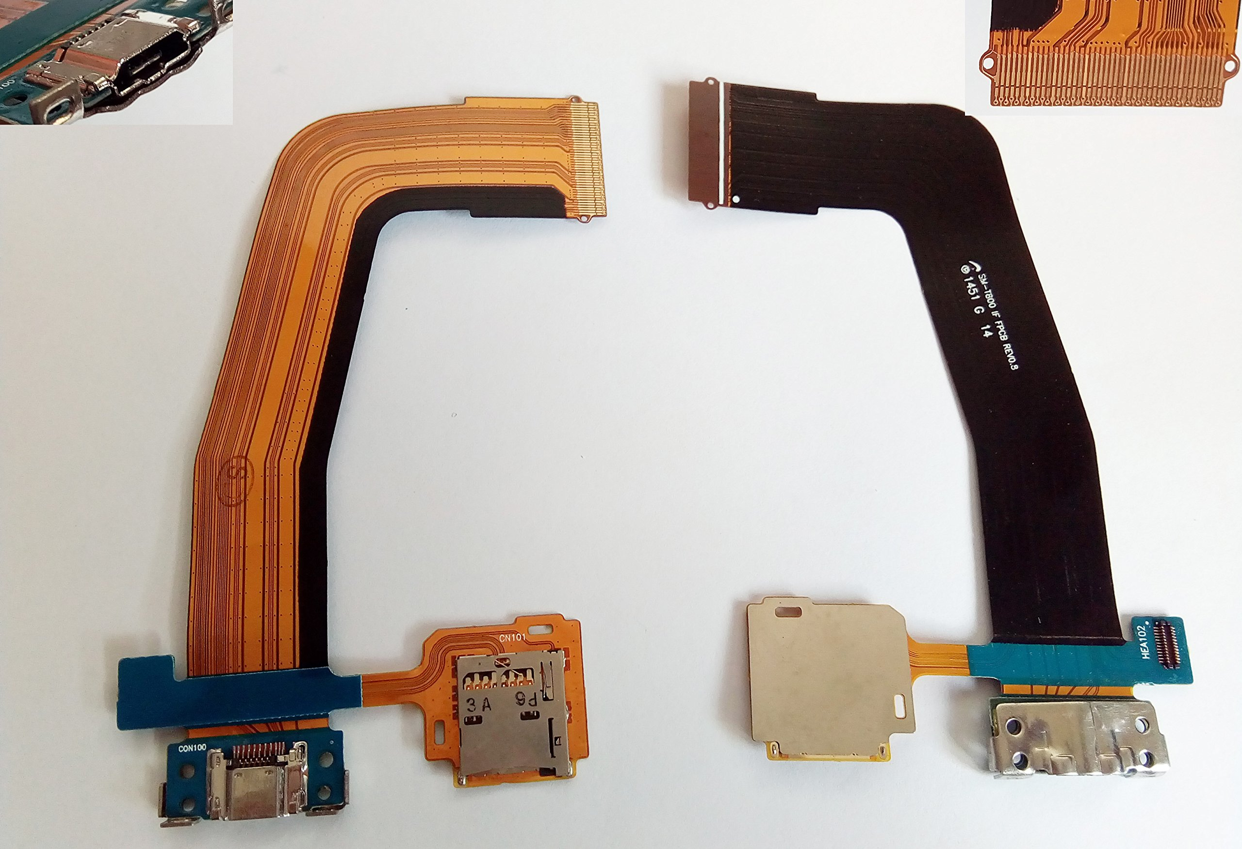 Charging Port Flex Cable for Samsung Tab S 10.5 SM-T800 T805 T805C T807A T807V T807T T807P T807R4 T800 T801 T807 SM-T800 Tab S 8.4 SM-T700 T700 T701