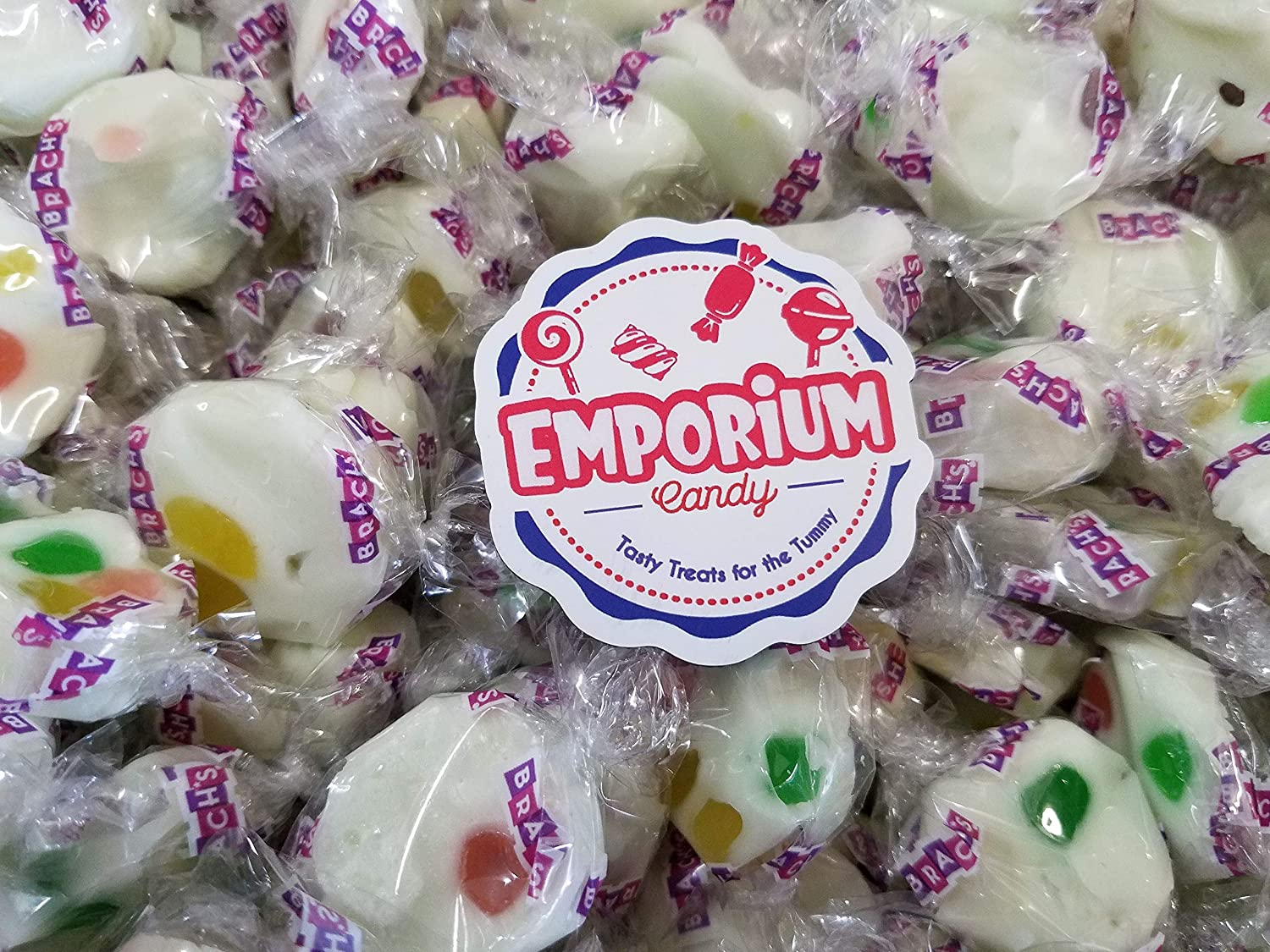 Brach's Jelly Nougats - Delicious Individually Wrapped 2 lbs Fresh Taffy Bulk Candy with Refrigerator Magnet