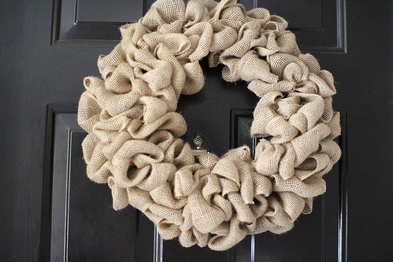 15 inch Burlap wreath Outdoor wreath,Front door Wreath,DIY Wreath,Plain Wreath Winter Wreath Spring Wreath Wedding wreath home warming Rustic wreath