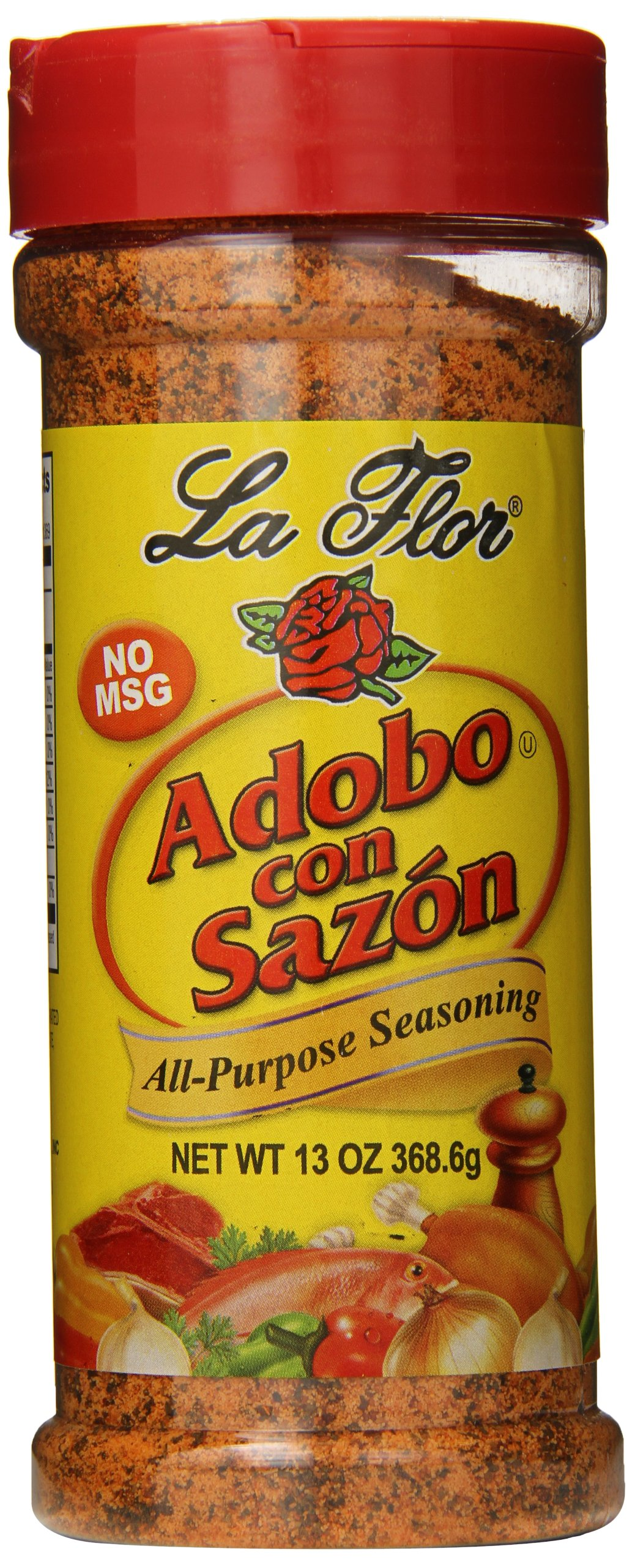 La Flor Spices Adobo with Sazon, 13 Ounce (Pack of 12) by La Flor Spices (Image #1)