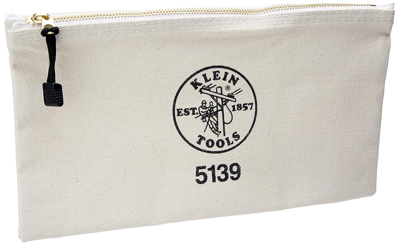 Amazon.com: Klein Tools 5139 Canvas Zipper Bag, White: Home ...