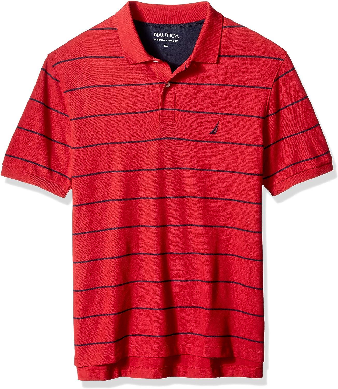 Nautica Hombres Z73800 Manga Corta Camisa Polo - Rojo - 5X Grande ...