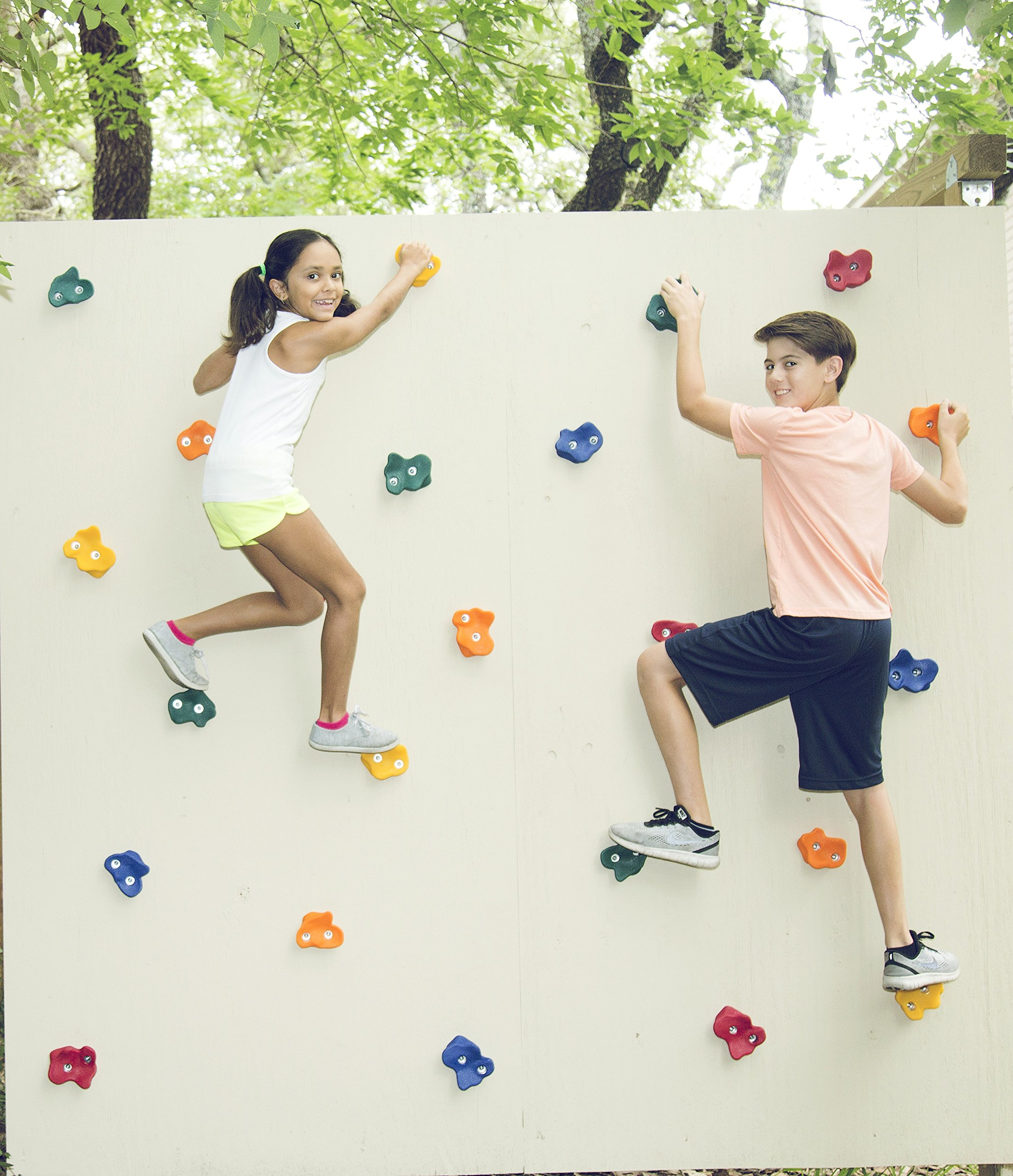 Jungle Gym Kingdom 22 Kids Extra Large Rock Climbing Holds for DIY Childrens Playground Wall | 2 Inch Mounting Hardware | Playset Install Guide by Jungle Gym Kingdom (Image #6)