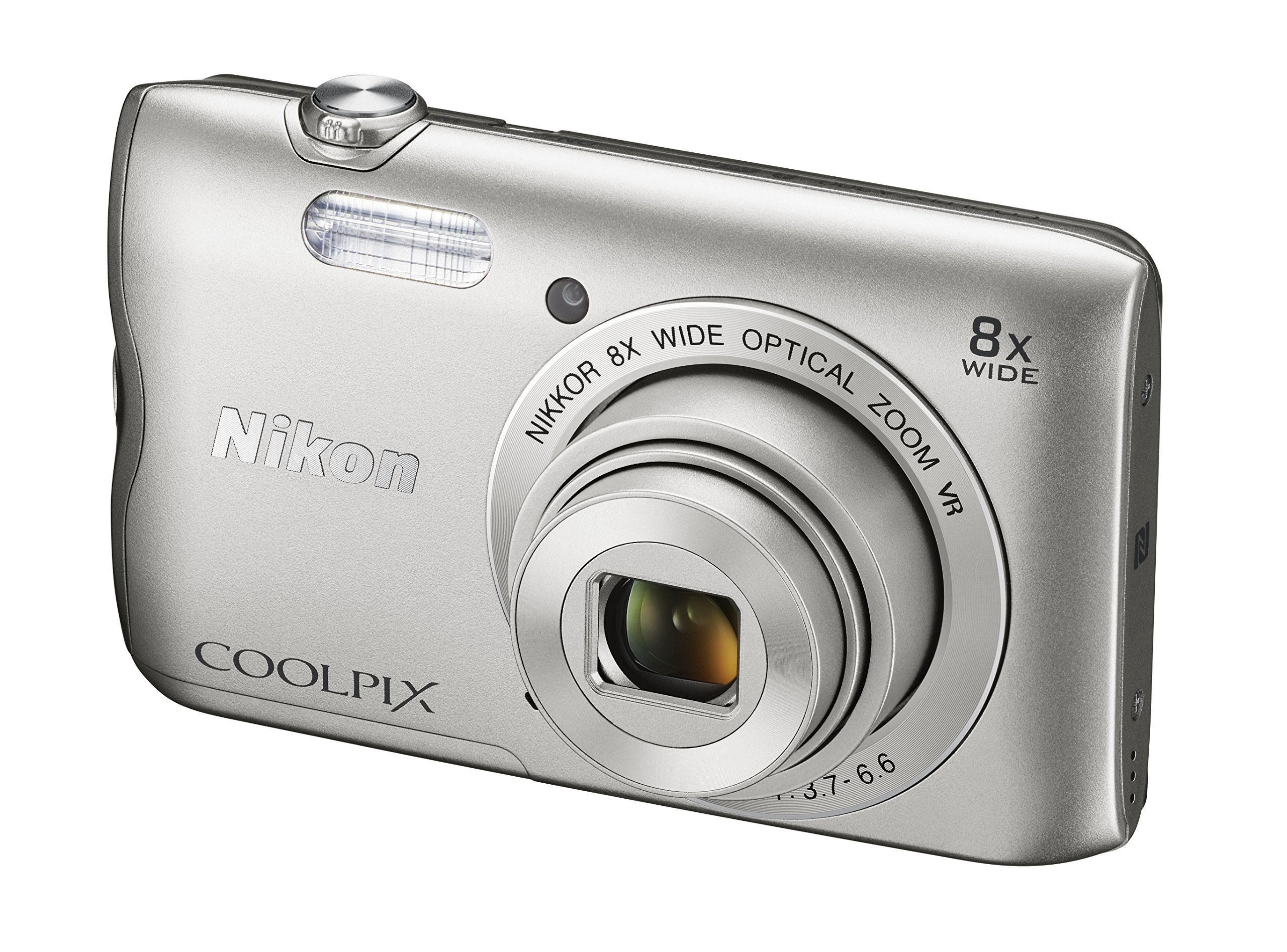 Nikon Coolpix A300 20 MP Point & Shoot Digital Camera, Silver