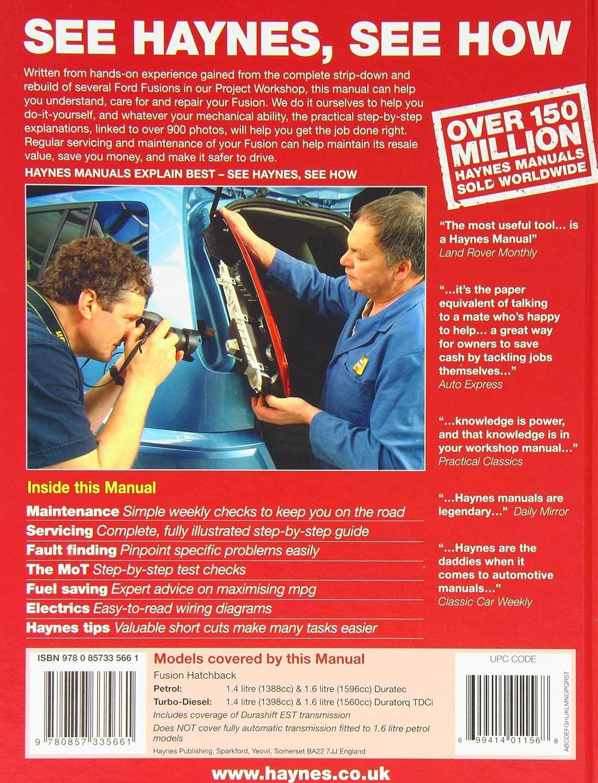 Ford Fusion Service And Repair Manual 2002 2012 Haynes Rover 600 Wiring Diagram Manuals M R Storey Car Motorbike