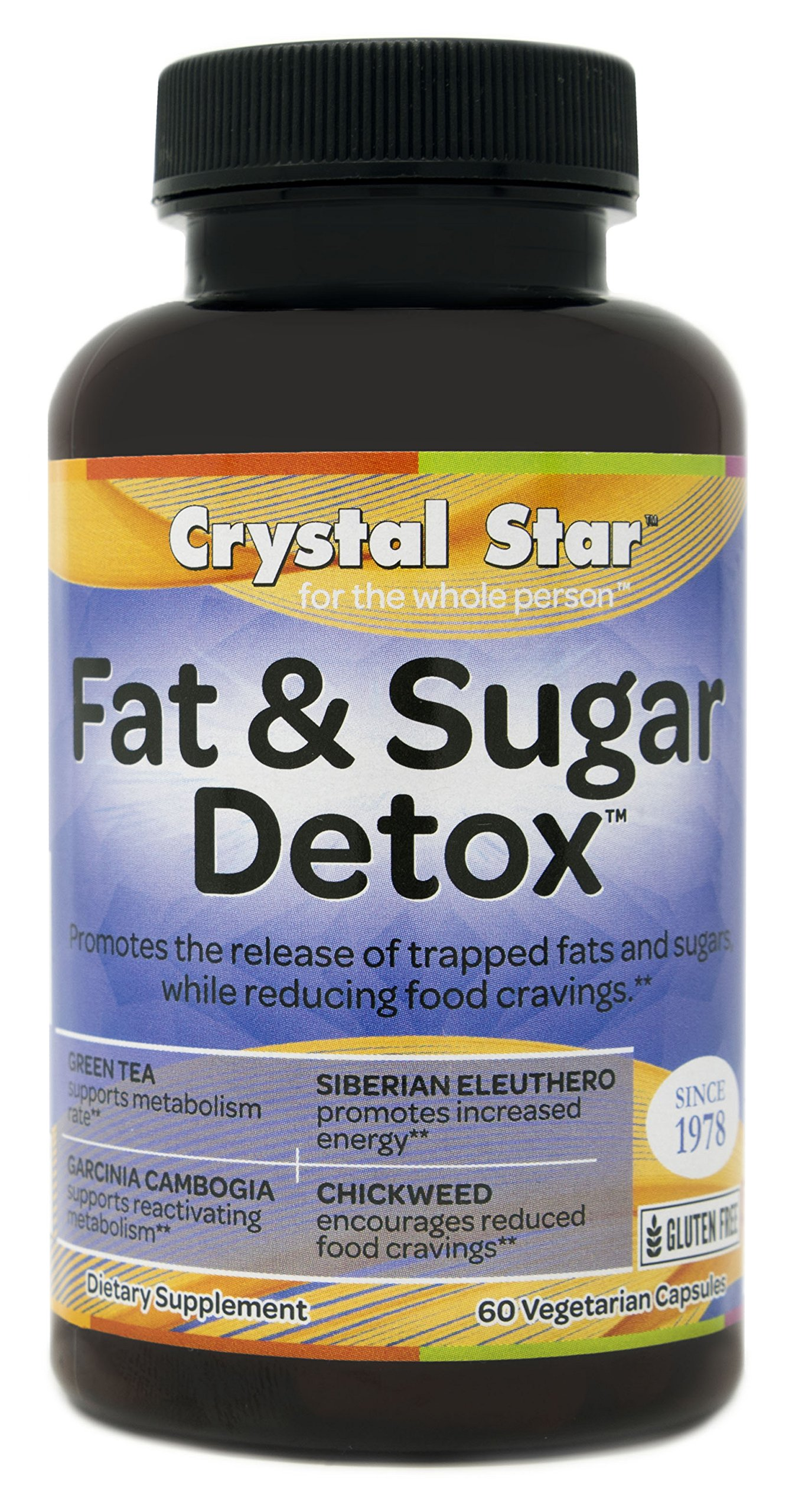 Crystal Star Fat and Sugar Detox Herbal Supplements, 60 Count by Crystal Star