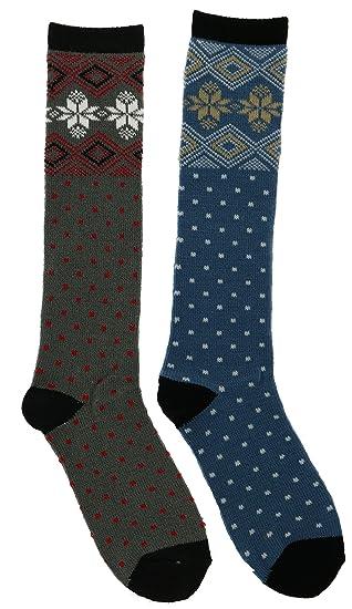 f247bb032 Alexa Rose Women s Snowflake Fairisle Knee High Socks (2Pr)