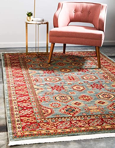Unique Loom Sahand Collection Traditional Geometric Classic Light Blue Area Rug 10 6 x 16 5