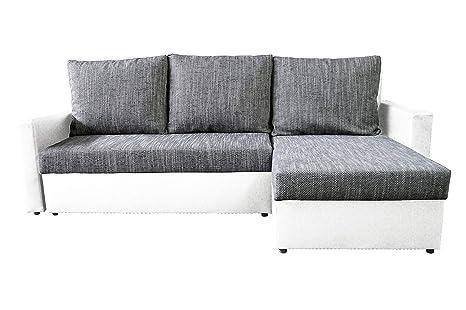 AVANTI TRENDSTORE - Karol - Divano ad angolo con funzione letto e  cassettone integrato, disponibile in 2 diversi colori, dimensioni: LP  228x147 cm ...