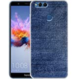 Fashionury Soft Silicon Printed Jeans Pattern Back Cover for Huawei Honor 7X