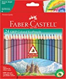 Faber-Castell Grip Colored EcoPencils - 24 Pack Colored Pencils, Pre-Sharpened