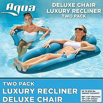 Amazon.com: Aqua AZL16263 - Tumbona hinchable para piscina ...