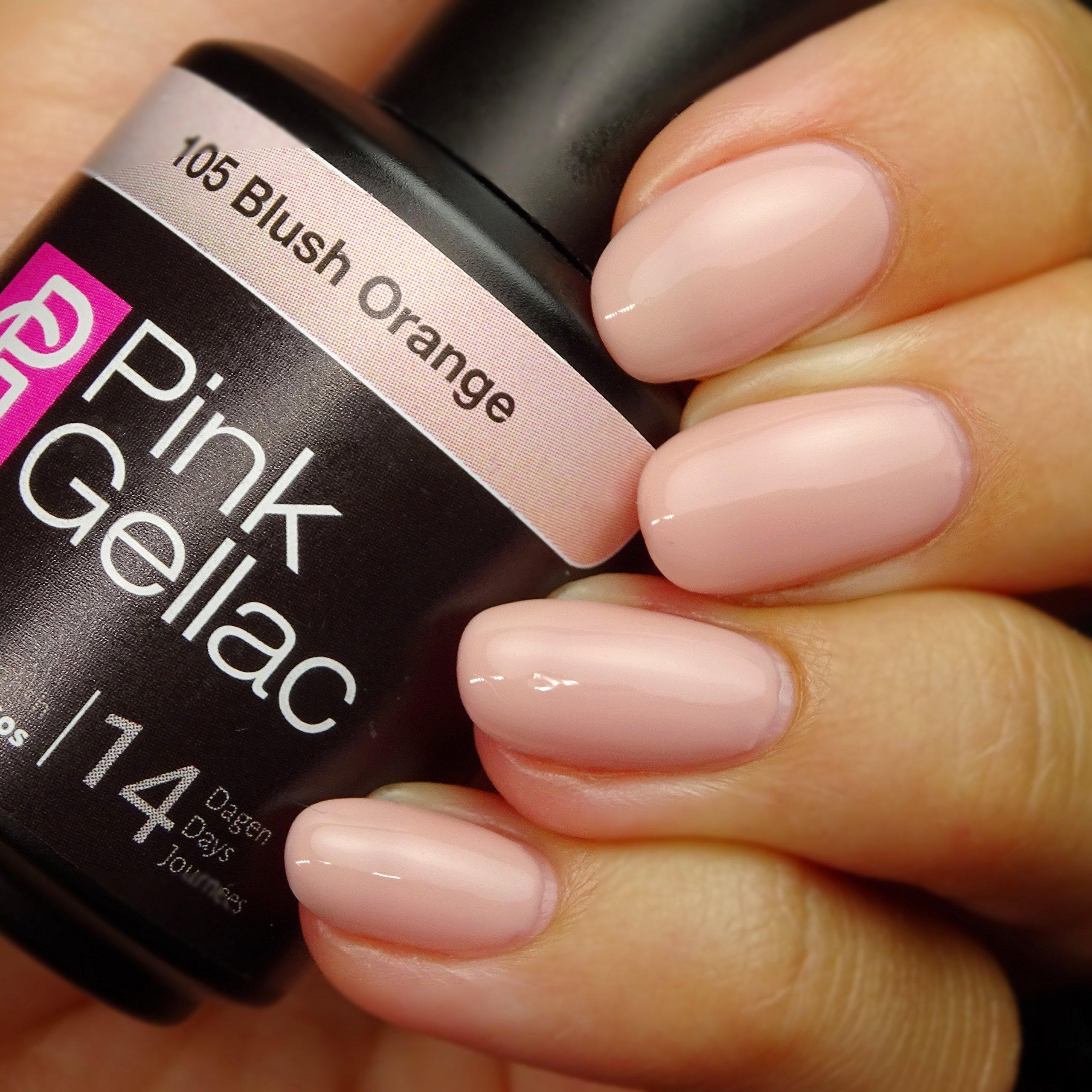 Pink Gellac #105 Blush Orange Soak-Off UV / LED Gel Polish (15ml