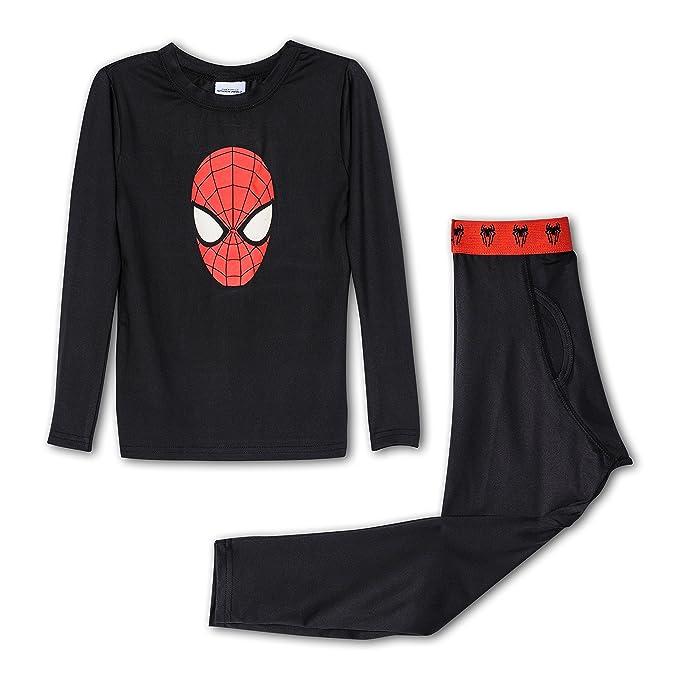 Spiderman Boy s acción base layer Set de ropa interior, tamaños 4 – 10