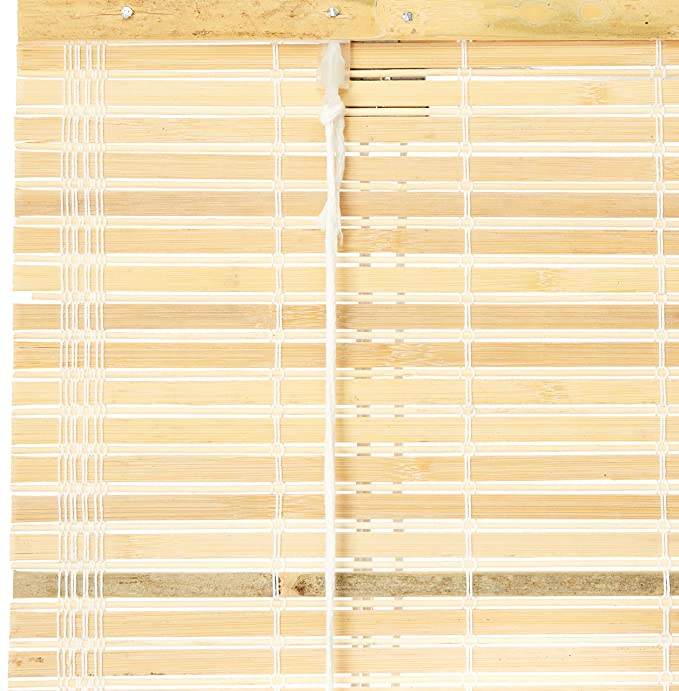 bayview shade and blind amazoncom oriental furniture burnt bamboo roll up blinds natural 60 in 72 inb home kitchen