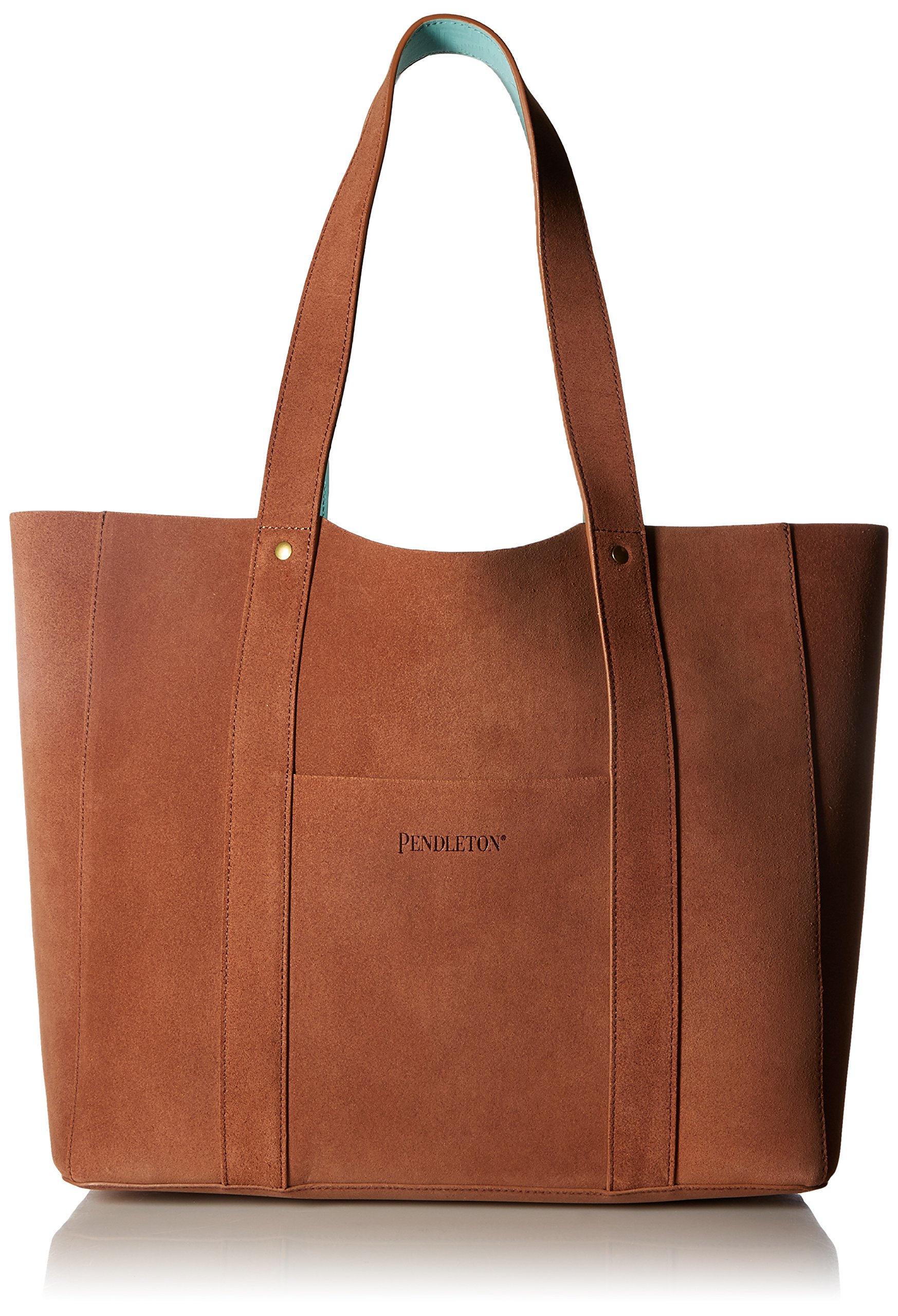 Pendleton Women's Suede Reversible Tote Accessory, -brown/aqua, One Size