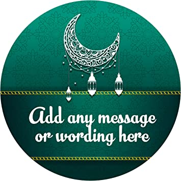 Eid ul adha green sticker labels 6 stickers 9 5cm each personalised