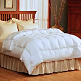 Pacific Coast Light Warmth Down Comforter [Fluffy, Ideal for less Warmth, True Baffle Box Design with Duvet loops, Allergy Free, Hyperclean with 100% Cotton Barrier Weave Fabric ] - King