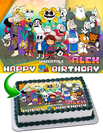 undertale edible image cake topper personalized icing sugar paper a4
