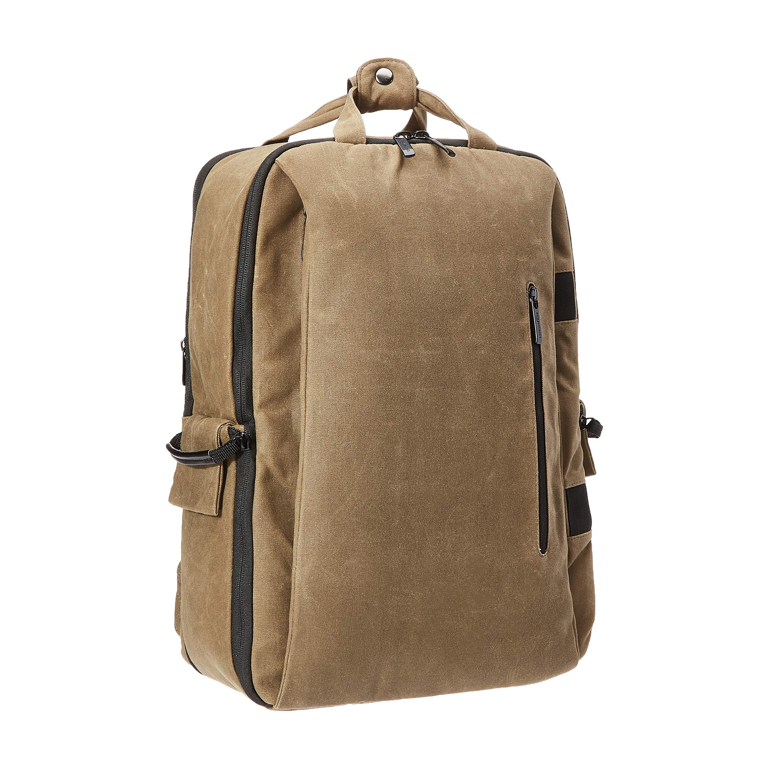 Amazon Basics Vintage Camera Backpack for Pro DSLR and Laptop- Vintage Wax Canvas - Brown