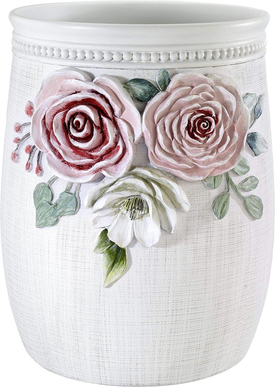 Avanti Linens Spring Garden Collection, Wastebasket, Multi