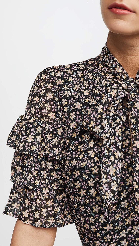 Rebecca Taylor Womens Short Sleeve Louisa Ruffle Top