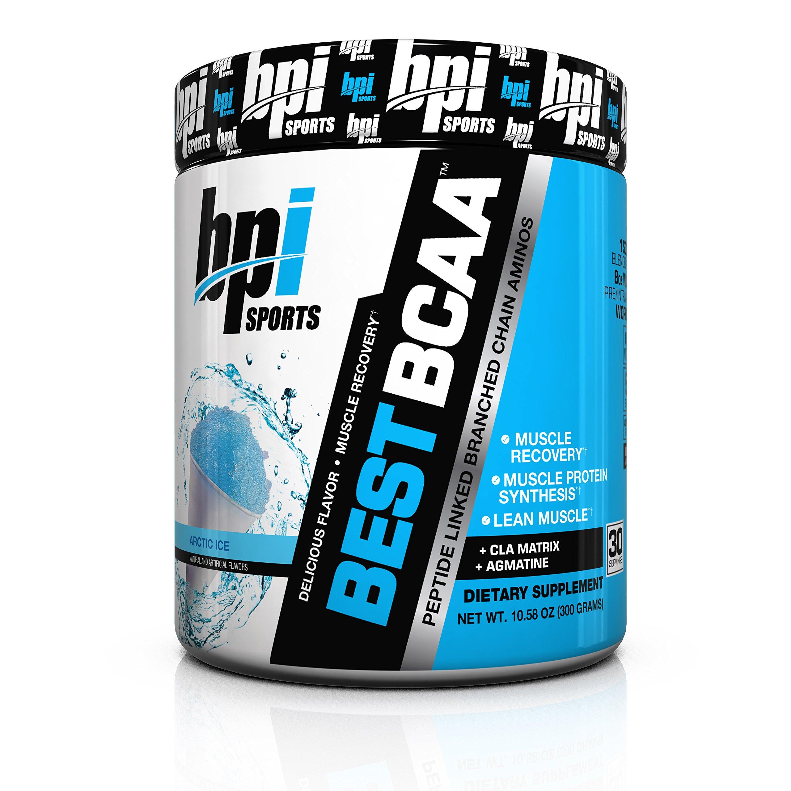 BPI Sports Best BCAA Powder, Arctic Ice, 10.58 Ounce