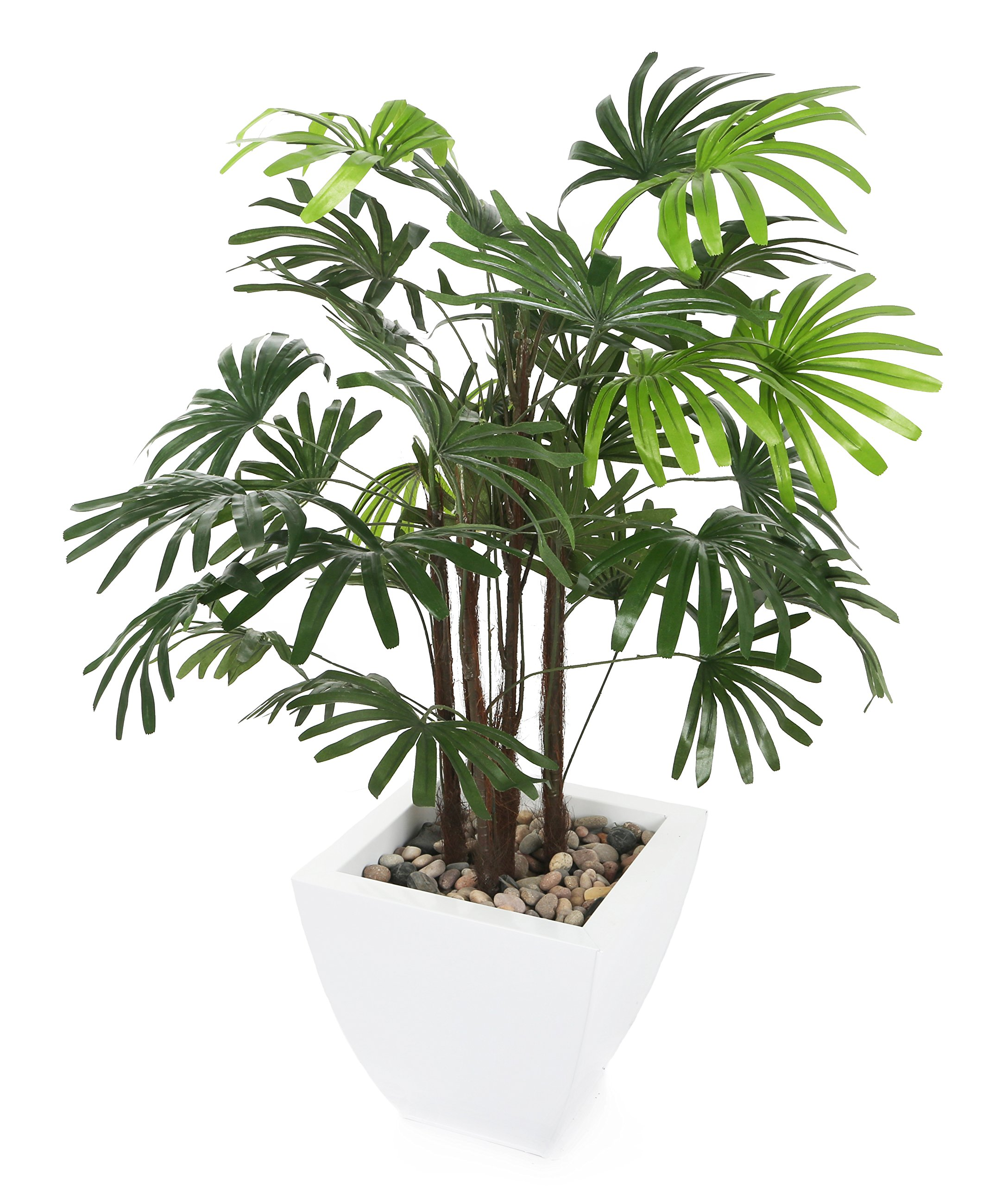 Closer to Nature Artificial 3ft Lady Palm Tree - Artificial Silk Plant and Tree Range