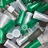 BIGSMOKESUPPLIES 50 X 13DR Dram Pop Top Containers Bottle Vials - Holds up to 3 Gram - FREE RX LABELS! Quantities Available