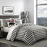 Eddie Bauer Home | Mountain Collection 100% Cotton Soft & Cozy Premium Quality Plaid Comforter with Matching Shams, 3-Piece B