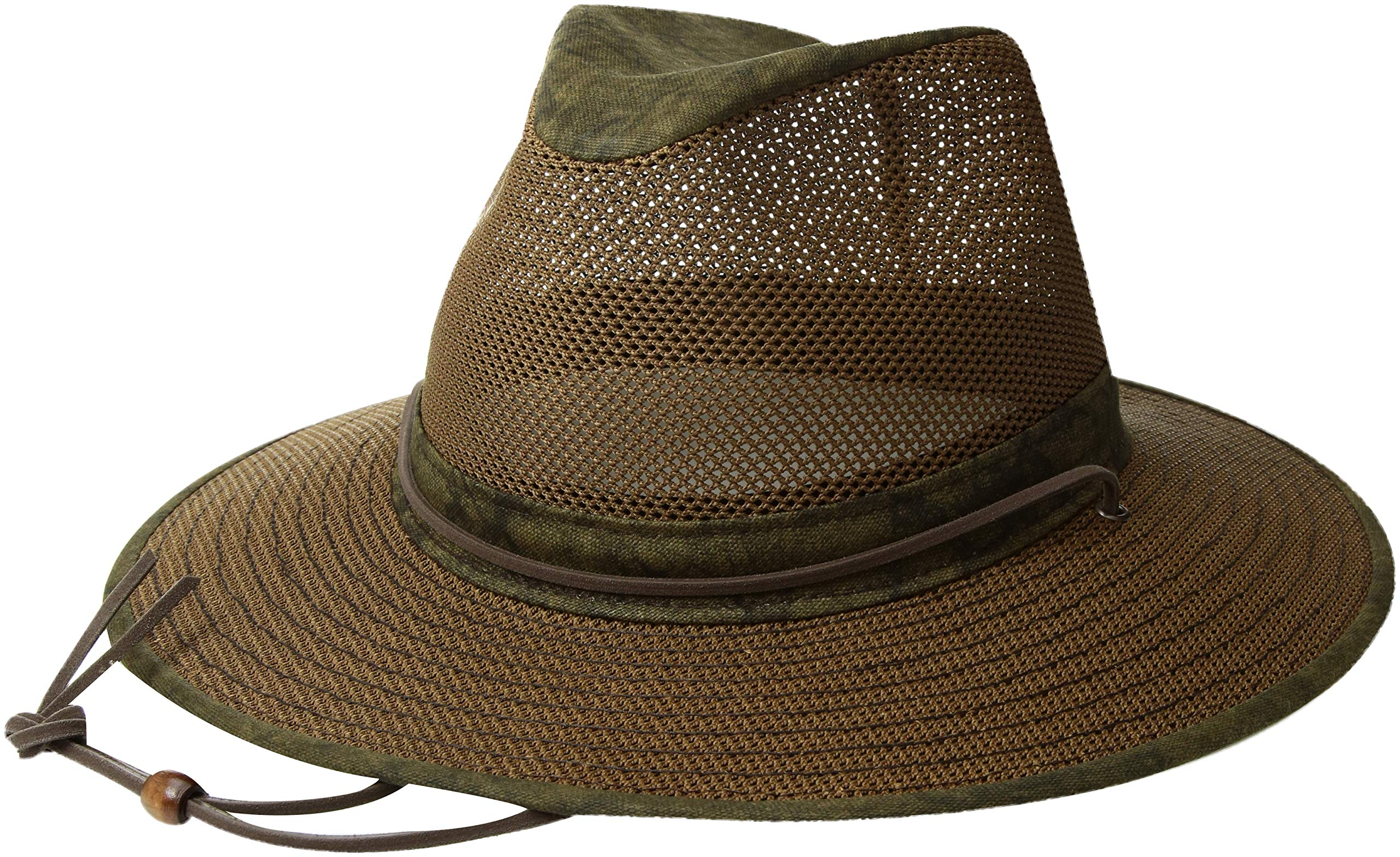 Henschel Hats Aussie Breezer 5310 Cotton Mesh Distress Gold Hat, Large