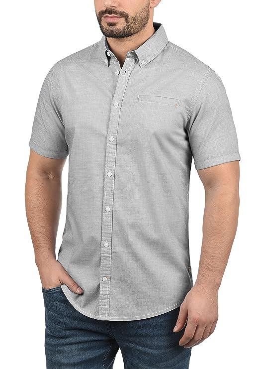 Blend Fillus Camisa De Manga Corta Veraniega con Botones En El Cuello De 100% Algodón U52rQsk