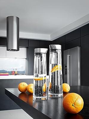 Blomus 63436 Wasserkaraffe 1 Liter Acqua, Deckel aus Edelstahl in matt.