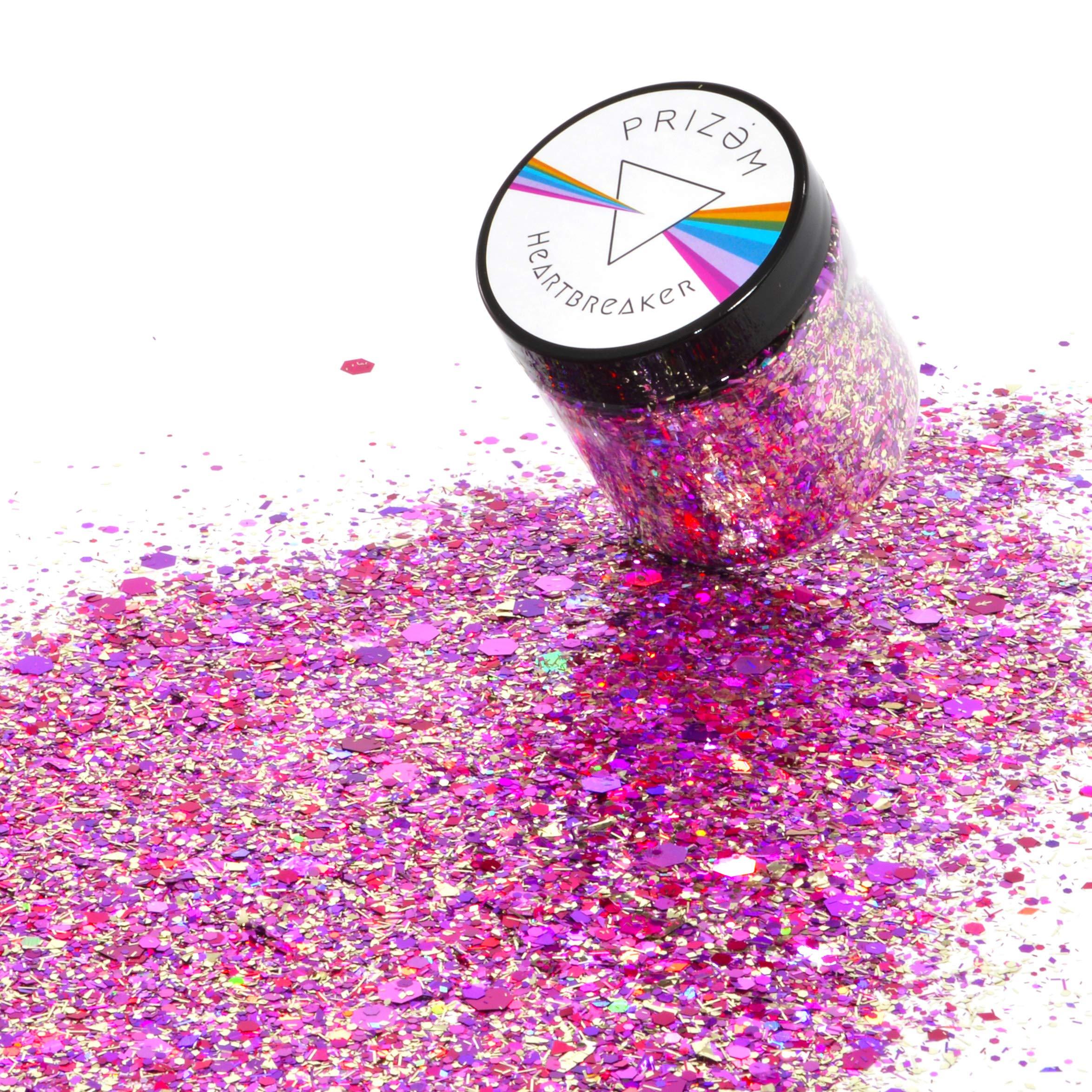 Prizem Heartbreaker Glitter ▽ 60g ▽ Festival Glitter , Chunky Glitter , Makeup Glitter , Face Glitter , Body Glitter , Glitter Makeup , Hair Glitter , Cosmetic Glitter , Nail Glitter