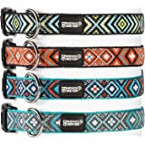 Woven Square Pattern Dog Collar by Friends Forever