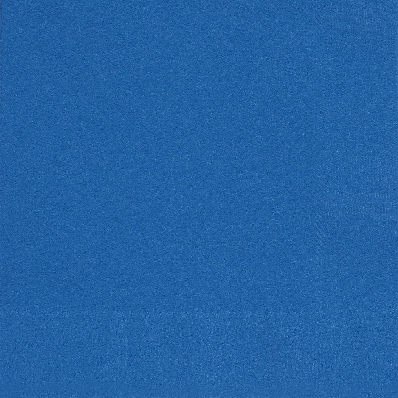 Unique Party 31472 - Tovaglioli di Carta, Confezione da 50, 16,5 cm, Blu Reale