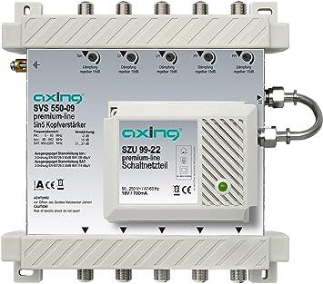 Axing SVS 550-09 - Amplificador de cabecera para sistemas SPU 5x-09 y