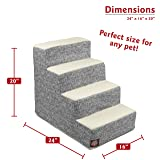 Majestic Pet Light Black Palette Heathered Portable Foam 4 Step Pet Stairs | Steps for Dogs & Cats | Dog & Cat Ramp | Perfect for Bed & Sofa | Indoor Only | Max Weight: Up to 25