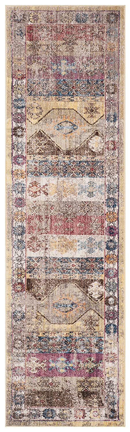 Safavieh Bristol Collection BTL358M Multicolored Southwestern Bohemian Distressed Runner (2'3 x 8') BTL358M-28