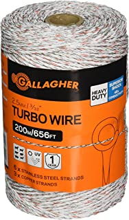 Gallagher G62174 Electric Turbo Equibraid Rope White HORIZON DISTRIBUTION 656-Feet