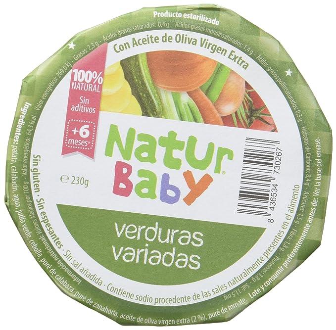 Natur Baby Puré Natural de Verduras Variadas para Bebé - Paquete de 12 x 230 gr