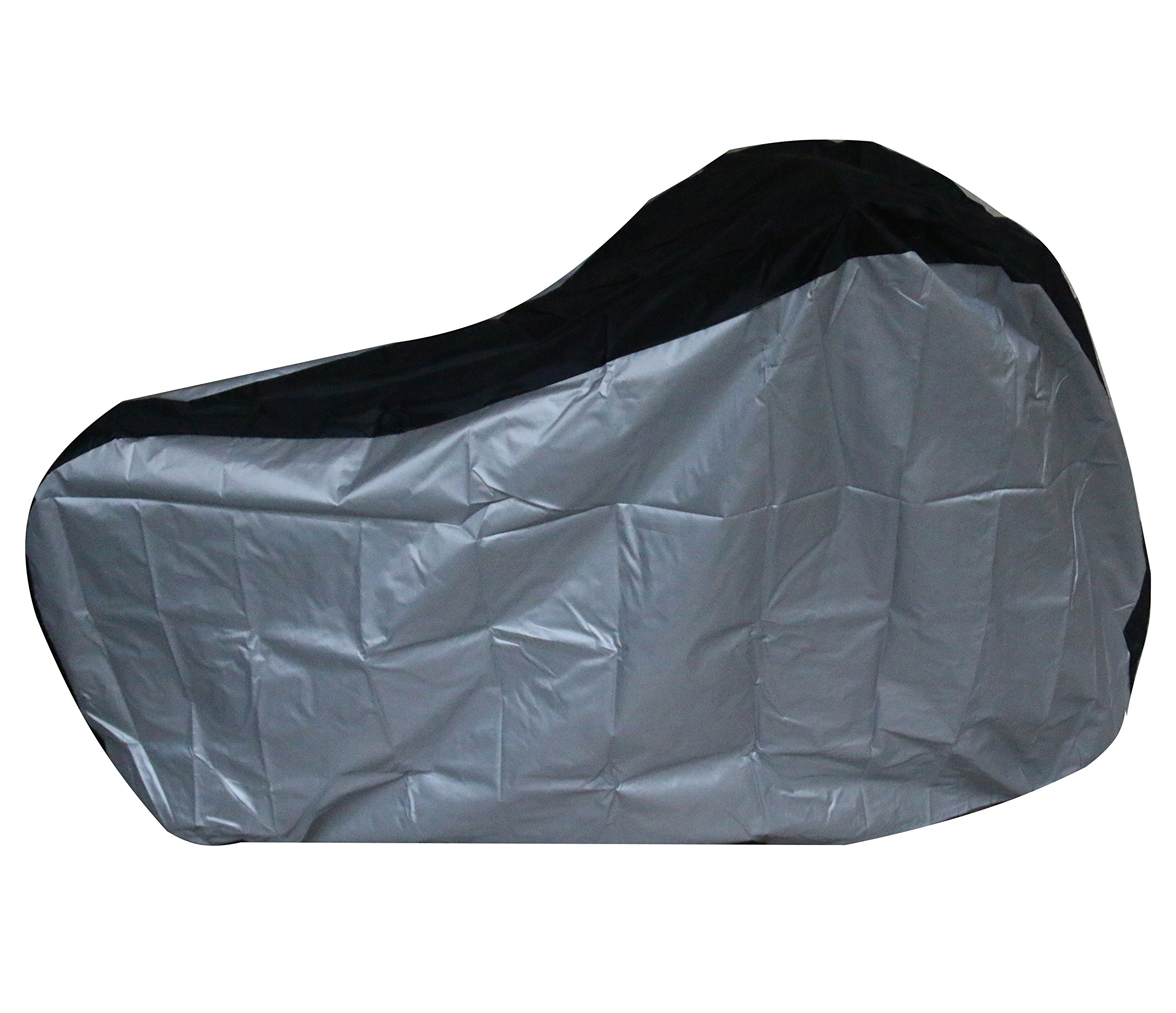 Silver & Black 190T nylon waterproof bike / bicycle cover (size: S by Lucky life (Image #1)