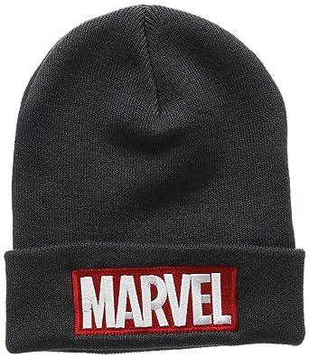 Hommes Logo Chapeau Bonnet, Gris (charbon De Bois), Une Merveille De Taille