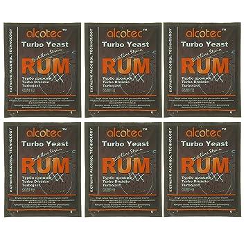 Alcotec Rum Turbo Yeast (Pack of 6)