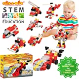 Click-A-Brick Rockin' Racers 100pc Building Blocks Set | Best STEM Toys for Boys & Girls Age 4 5 6 Year Old | Kids 3D Creative Puzzle Fun | Top Educational Learning Gift For Children Ages 4 - 12