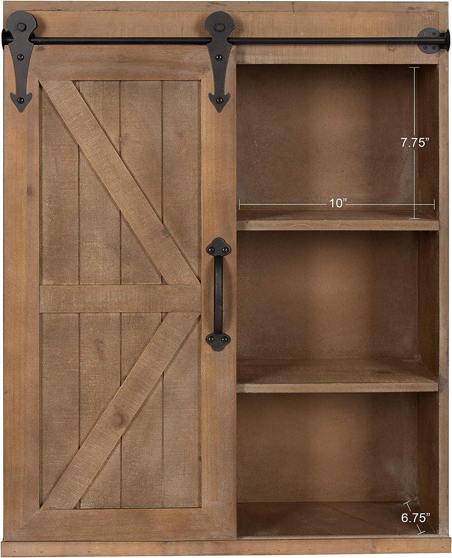 Wall Mounted Vintage Rustic Cabinet Solid Wood Storage Bathroom Shelving Shelves