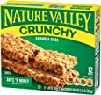 Nature Valley Crunchy Granola Bars, Oats 'n Honey, 21g (Pack of 12)